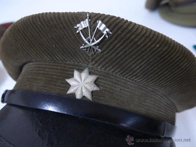 Militaria: Gorra de plato de pana original, Alfonso XIII, Republica y guerra civil, comandante de caballeria - Foto 3 - 46733772