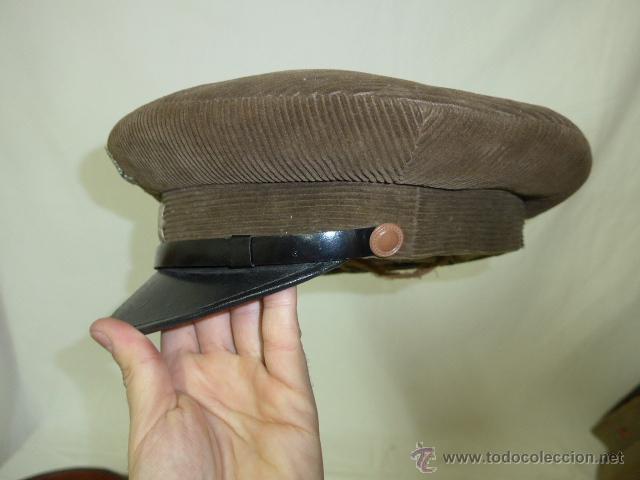 Militaria: Gorra de plato de pana original, Alfonso XIII, Republica y guerra civil, comandante de caballeria - Foto 4 - 46733772