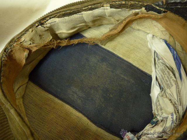 Militaria: Gorra de plato de pana original, Alfonso XIII, Republica y guerra civil, comandante de caballeria - Foto 8 - 46733772