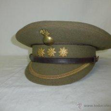 Militaria: GORRA DE PLATO DE CORONEL DE ARTILLERIA, ORIGINAL, GUERRA CIVIL Y REPUBLICA. Lote 46734689
