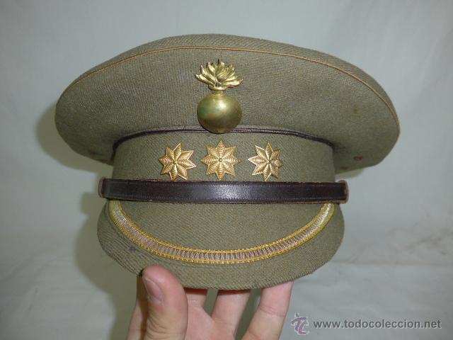 Militaria: Gorra de plato de coronel de artilleria, original, Guerra civil y Republica - Foto 2 - 46734689