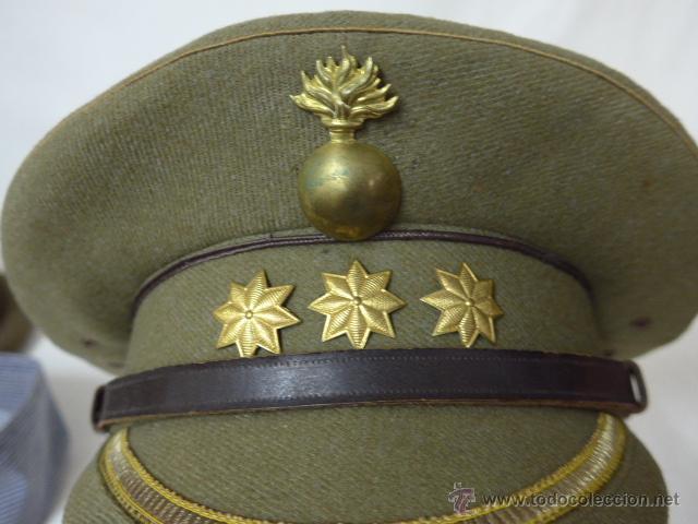 Militaria: Gorra de plato de coronel de artilleria, original, Guerra civil y Republica - Foto 6 - 46734689