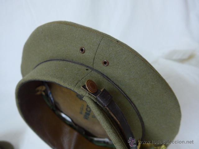 Militaria: Gorra de plato de coronel de artilleria, original, Guerra civil y Republica - Foto 10 - 46734689