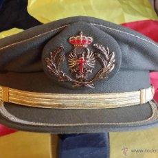 Militaria: GORRA DE PLATO DE JEFE DEL EJÉRCITO DE TIERRA, EPOCA JUAN CARLOS, SIN REFERENCIA DE TALLA, APROX 57. Lote 46964233