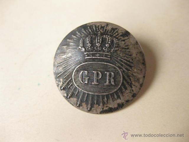 BOTON GRANDE LA LA GUARDIA REAL PERSONAL DE FERNANDO VII (Militar - Botones )