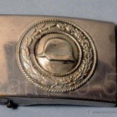 Militaria: 1 HEBILLA ALEMANA DER STAHLHELM- CASCO DE ACERO- ORIGINAL- REALIZADA EN DOS PIEZAS.. Lote 48441755