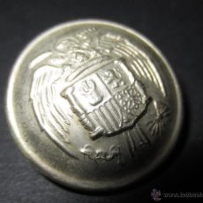 Militaria: BOTÓN AGUILA GRANDE PLATEADO.. Lote 48674616