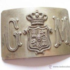 Militaria: HEBILLA DE CINTURON DE LA GUARDIA MUNICIPAL DE MADRID - PRINCIPIOS S XX. Lote 48833674