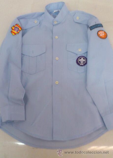 CAMISA SCOUT ARAGON CASTORES TALLA 32 (Militar - Otros relacionados con uniformes )