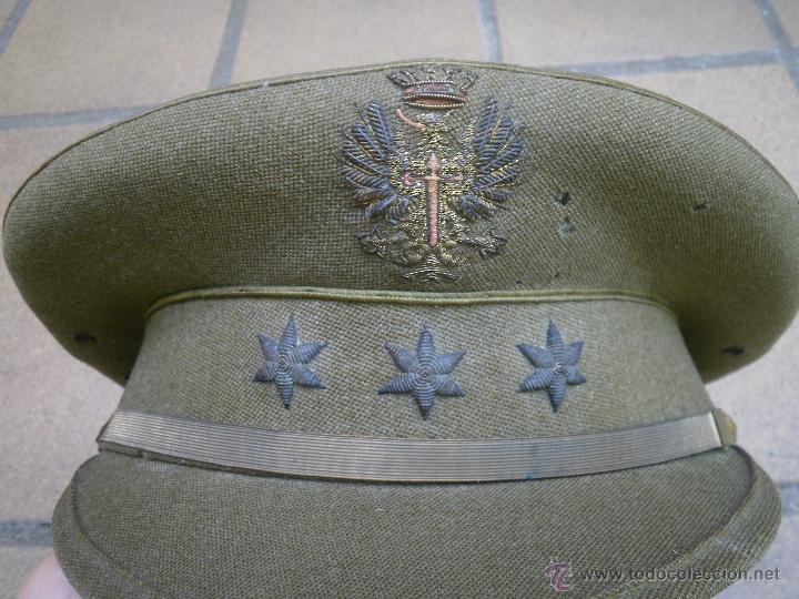 GORRA DE PLATO CAPITÁN DEL EJÉRCITO ESPAÑOL. REGLAMENTO 1943 (Militar - Boinas y Gorras )