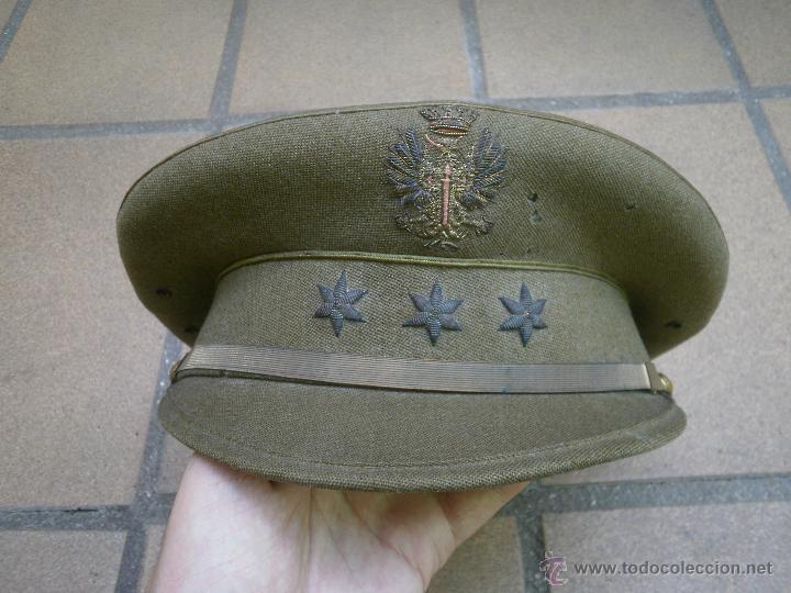 Militaria: Gorra de plato capitán del ejército español. Reglamento 1943 - Foto 2 - 49178096