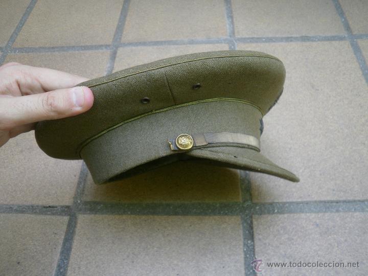 Militaria: Gorra de plato capitán del ejército español. Reglamento 1943 - Foto 3 - 49178096