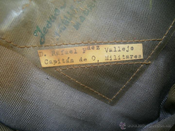 Militaria: Gorra de plato capitán del ejército español. Reglamento 1943 - Foto 6 - 49178096