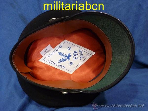 Militaria: Italia. Gorra de plato de los Carabinieri. Talla 54. - Foto 3 - 171491614