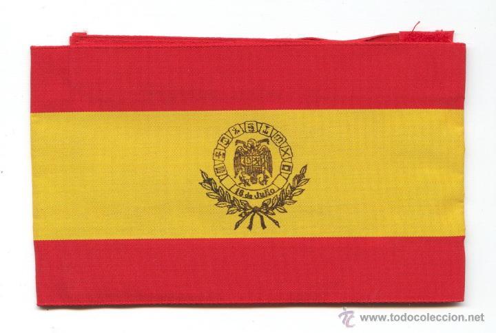 BRAZALETE DE EX-COMBATIENTE DEL BANDO NACIONAL EN LA GUERRA CIVIL, NUMERADO Y DE BARCELONA. (Militar - Otros relacionados con uniformes )