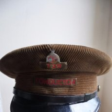 Militaria: (JX-2497)GORRA DE CONDUCTOR DE TRANVIAS DE BARCELONA , T B , PANA , AÑOS 50. Lote 49747221