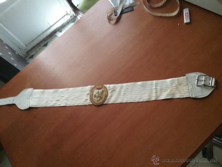 Militaria: antiguo fajin fagin bordado oro canutillos escudo hercules ayuntamiento de cadiz , lazo plisado - Foto 8 - 50036162