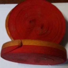 Militaria: CINTA BANDERA CATALANA PARA ESCARAPELA 20 X 1,8 CM. Lote 50085233