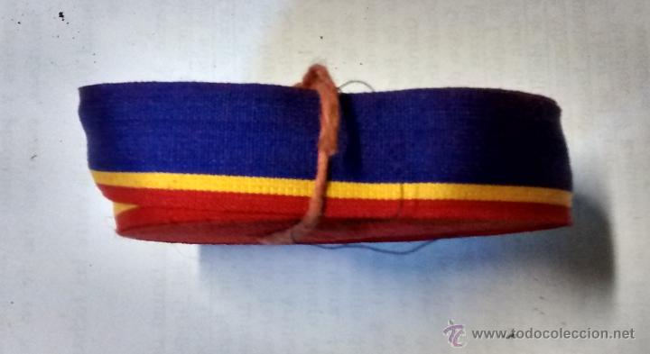 CINTA DE BANDERA REPUBLICANA PARA ESCARAPELA, 20 CM X 1,7 CM (Militar - Otros relacionados con uniformes )