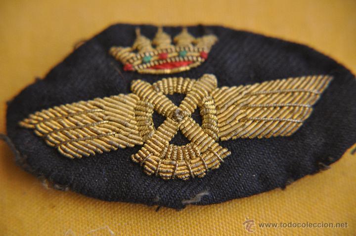 AVIACION. ROKISKI DE PILOTO, BORDADO (Militar - Otros relacionados con uniformes )