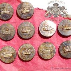 Militaria: LOTE DE BOTONES, DE LA NOBLEZA - CORONA DUCAL - 1,8 CM. Lote 122363943