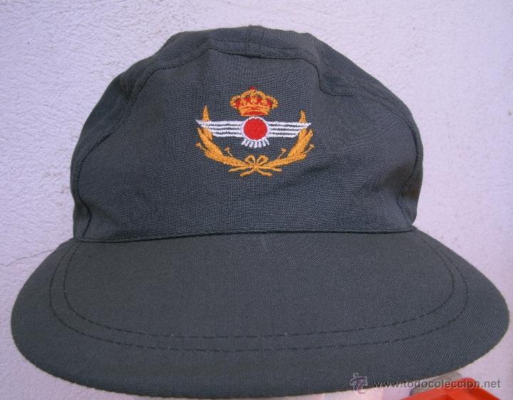 Militaria: GORRA VERDE MANZANA de VUELO de AVIACIÓN, GORRA DE FAENA. NUEVA. GORRILLA EJÉRCITO DEL AIRE. T.G - Foto 2 - 127474720