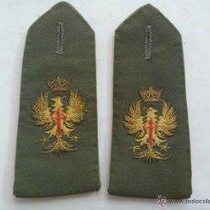 Militaria: PAR DE HOMBRERAS DE OFICIAL DEL EJERCITO ESPAÑOL, GALA , EPOCA DE FRANCO.. Lote 51180633