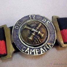 Militaria: MARAVILLOSO CINTURON CON HEBILLA, ARTILLERIA, DEL 17 DE CAMPAÑA, ALFONSO XIII, MUY BUEN ESTADO. Lote 51705329