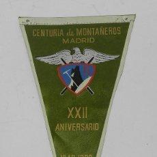Militaria: BANDERIN DE LA CENTURIA DE MONTAÑEROS DE MADRID DEL FRENTE DE JUVENTUDES, XXII ANIVERSARIO, 1940 -19. Lote 51954749