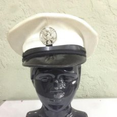 Militaria: GORRA DE PLATO USA, CON FUNDA BLANCA . Lote 52727271