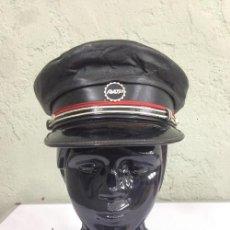 Militaria: GORRA DE PLATO FRANCESA RATP MATERIAL CUERO. Lote 52728295