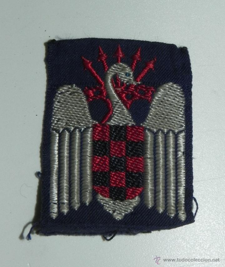 EMBLEMA EN TELA DE LAS FALANGES JUVENILES DE FRANCO, MIDE 6 X 4 CMS. (Militar - Otros relacionados con uniformes )