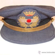 Militaria: GORRA DE PLATO DE OFICIAL DE AVIACION AÑOS 50/70. Lote 52993308