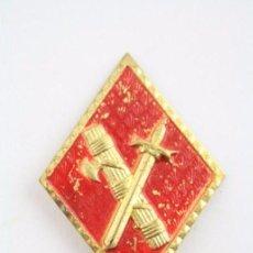 Antiguo Rombo Militar / Ejército - Emblema de Guardia Civil - Metal - Medidas 49 x 35 Mm