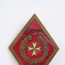 Antiguo Rombo Militar / Ejército Esmaltado - Emblema de Sanidad Militar - Metal - Medidas 49 x 35 Mm