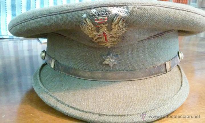 Militaria: Lote de gorra, cinturón, tirantes, hombreras y bolsa militares. En su caja original. - Foto 6 - 53466024