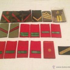 Militaria: LOTE DE HOMBRERAS MILITARES PARA UNIFORME. VARIEDAD. Lote 53582035