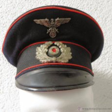 Militaria: GORRA DE PLATO ALEMANA SCHIRMMÜTZE PERÍODO III REICH. Lote 53760102