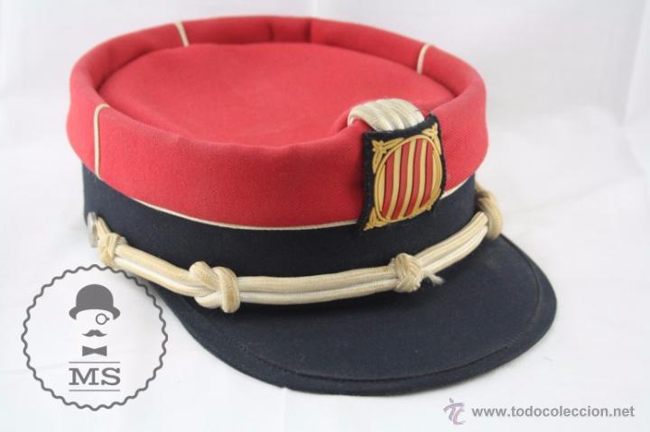 GORRA DE ACADEMIA DE LOS MOSSOS D'ESQUADRA - ROJO - GENERALITAT CATALUNYA - MEDIDAS 19,5 CM DIÁM (Militar - Boinas y Gorras )