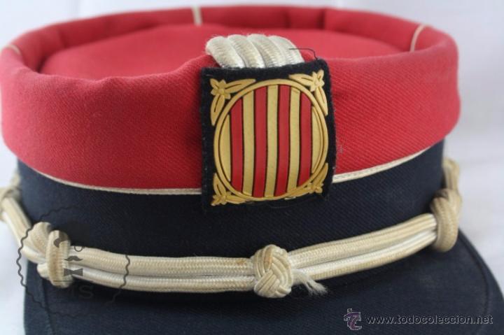 Militaria: Gorra de Academia de los Mossos d'Esquadra - Rojo - Generalitat Catalunya - Medidas 19,5 Cm Diám - Foto 2 - 53951811