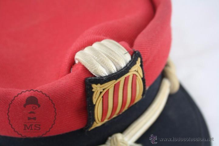 Militaria: Gorra de Academia de los Mossos d'Esquadra - Rojo - Generalitat Catalunya - Medidas 19,5 Cm Diám - Foto 4 - 53951811