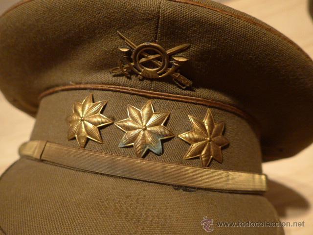 Militaria: Antigua gorra de plato original de coronel infanteria, epoca Alfonso XIII - Republica y guerra civil - Foto 2 - 53981218