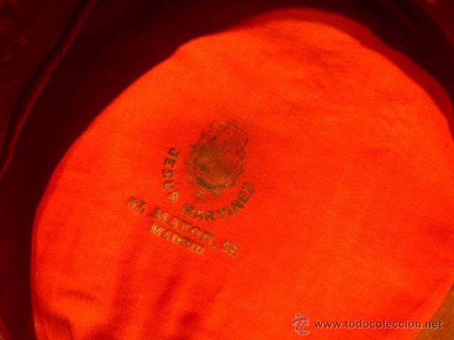 Militaria: Antigua gorra de plato original de coronel infanteria, epoca Alfonso XIII - Republica y guerra civil - Foto 5 - 53981218