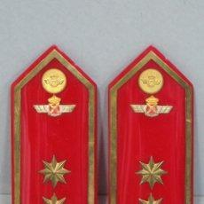 Militaria: ANTIGUA PAREJA DE HOMBRERAS DE TENIENTE CORONEL DEL EJERCITO DEL AIRE. EPOCA DE FRANCO. Lote 53992947