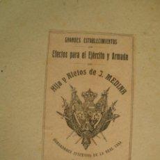 Militaria: CAJA PARA EFECTOS MIITARES, INFANTERÍA DE MARINA, DE LA CASA MEDINA. Lote 54178881