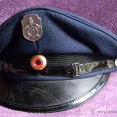 Militaria: RFA . REPÚBLICA FEDERAL ALEMANA - GORRA DE PLATO - ORIGINAL - GUERRA FRIA - OFICIAL BOMBERO. Lote 54299436