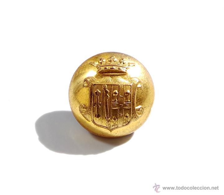 BOTÓN DE LA NOBLEZA, ESCUDO DE ARMAS - 1,7 CM (Militar - Botones )