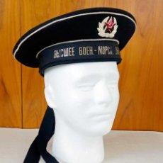 Militaria: AUTÉNTICA GORRA MARINERÍA SOVIÉTICA CON INSIGNIA. Lote 55782375