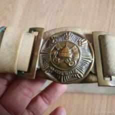 Militaria: ANTIGUO CINTURON CUERO DEL CATHOLIC BOY BRIGADE, CBB, BRIGADA CHICOS CATOLICOS, MEDIDAS 90 CM. Lote 56513428