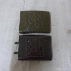 Militaria: LOTE 2 HEBILLA CHECA ORIGINAL DE EPOCA DE DOMINACION NAZI ALEMANA, II GUERRA MUNDIAL. DISTINTAS.. Lote 56636451